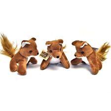 Pack of 3 Small Fox Soft Toys - Plush Stuffed Animals