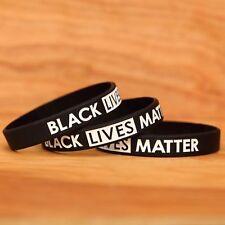 20 Black Lives Matter Wristbands - Silicone Awareness Wrist Band Bracelets