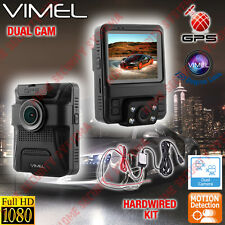 Dash camera Dualcam  Security Parking Guard Car GPS Vimel Hardwired 24/7 Monitor