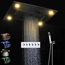 Thermostatic Electric LED Shower Bath 5 Function Massage Mist Shower Head Set
