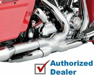 Chrome Vance & Hines True Power Duals Exhaust Headers 2009-2016 Harley Touring