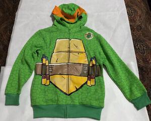 Nickelodeon Teenage Mutant Ninja Turtles Michaelangelo Hoodie Green Large 10/12