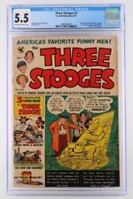 Three Stooges #1 - CGC 5.5 FN- St. John 1953 - Joe Kubert & Norman Maurer App!