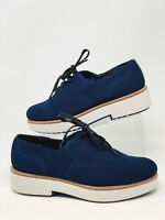 Zara Woman Brogues Platform EU 38 US 7.5 Derby Shoes Sneakers Navy Blue NWT