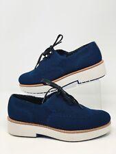 Zara Woman Brogues Platform Derby Shoes Sneakers Navy Blue EU 38 US 7.5 NWT