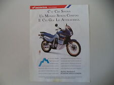 advertising Pubblicità 1991 MOTO HONDA XL 600 V TRANSALP RALLY TOURING