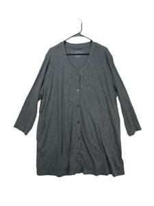 Carole Hochman Womens Gray Heavenly Soft Sleepwear Robe Size 3X
