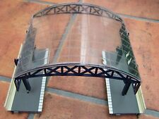 Hornby ~ Station Over Roof Canopy (Blue), platforms, fences ~ OO Gauge