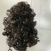 Hand Styled Doll Wig Global Dolls Candi 13-14 Dark Brown Curly Wig NOS