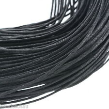 80M Wholesale Black Waxed Cotton Necklace Cord 1mm GIFTS