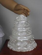 "Lovvbugg Fancy White Wedding Cake for 18"" American Girl Doll Food Accessory YUM!"