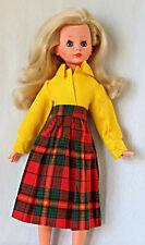 vintage 1965 bambola CORINNE ITALOCREMONA completa di abiti d'epoca biondissima