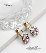 Rings`Ears Sleeper Crystal Golden Purple Class Vintage Marriage CC 7