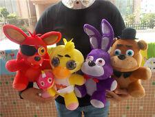 4pcs/set FNAF Five Nights at Freddy's Chica Bonnie Foxy Plush Doll Toy Gift