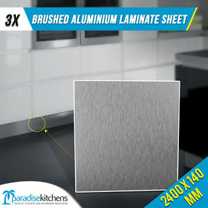 3 x 140 brushed aluminium laminate used for kitchen kickboard plinth laundry