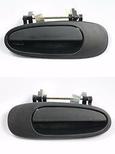 Pair Rear, LH & RH, Outside Door Handle Textured Black for 93-97 Corolla & Prizm