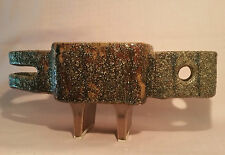 SPACE AGE vtg mcm Japanese ikebana atomic fish bird art pottery vase sculpture