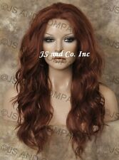 Iron oK HEAT SAFE Full Lace Front WIG Copper Red Wig Futura Fiber WBYV 130