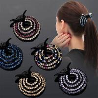 Fashion Women Hair Clip Full Crystal Claw Ponytail Bun Holder Hair Comb Hairpin