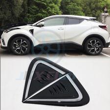 For Toyota C-HR CHR 2016-2019 2PCS ABS Outer Side Front Door Fender Frame Trim
