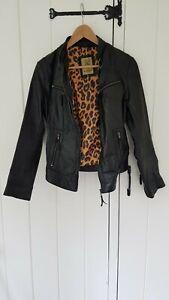 Vintage AVIATRIX Leather Retro Jacket Black XL