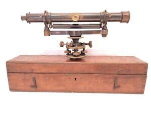 RARE ANTIQUE 1860 NEGRETTI & ZAMBRA SURVEYING EQUIPMENT SURVEYOR LEVEL CASED
