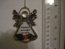 Angel Ornament Mothers are Angels On Earth Metal and Acrylic 13581 220
