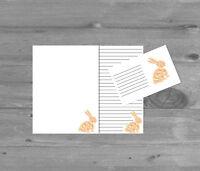 Cute Rabbit Letter Writing Paper and Envelopes Stationary Set, Penpals Gift Set