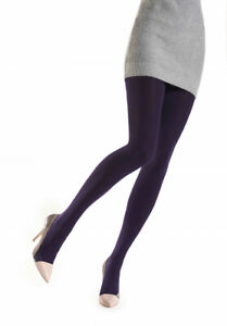 Oroblu Tights Cyntia, knitted pantyhose, soft cotton, 120 denier opaque effect