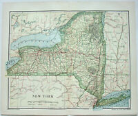 Original 1895 Map of New York by Dodd Mead & Company. Antique