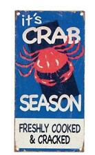 Crab Season Shellfish Sea Ocean Beach Sign Meissenburg for Big Sky Carvers