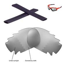 New Walleva Polarized Vented Transition Lenses Black Earsocks 4 Oakley Jawbone