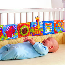 Baby Crib Bumper Bed Protector Kids Cloth Cognize Educational Books Picture Toy