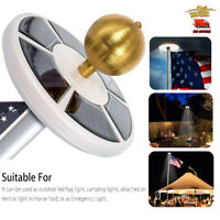 Flag pole Downlight 42 LED Solar Flag 15-25ft Pole Lights IP65 Waterproof New US