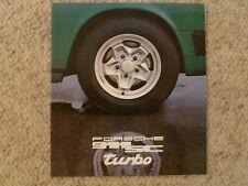 1977 Porsche 911 SC & Turbo DELUXE Showroom Advertising Sales Brochure RARE L@@K