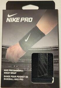 New Nike Pro Baseball Wrist Wrap Black/White OSFM Adult Unisex FREE SHIPPING!!