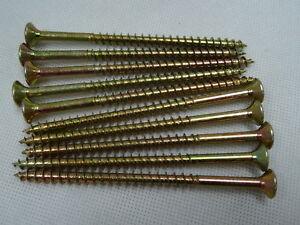 6mm x 100mm CSK POZI Single Thread Woodscrews ZYP - per 100
