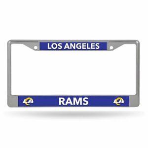 Los Angeles Rams Lightweight Chrome Metal License Plate Frame