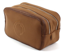 Series Smokey Premium Toiletry Bag - MARGO münchen - Leatherette Camel-Brown