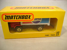 MATCHBOX LESNEY JAPAN ISSUE MB23 PEPSI DODGE COMMANDO PANEL TRUCK  MIB