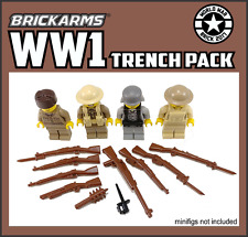 BrickArms WWI TRENCH PACK for  Minifigures -Battlefield Military Army NEW
