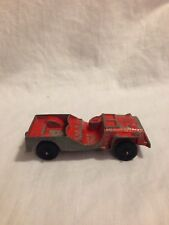 Vintage Tootsietoy Red Toy Vehicle Army Jeep Metal