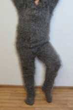 Overals hood catsuit attached mittens and socks 100% Goat down mohair fetish