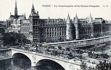Antique Original Postcard, Paris - La Conciergerie Et La Sainte Chapelle, France