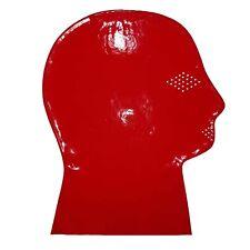 Latex Maske aus Rubber in transparent rot, Einheitsgröße