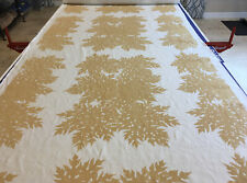 Raoul Textiles Jimpy's Papaya Husk Designer Hand Printed Linen Fabric Bty