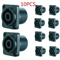 10 pcs Speakon 4 Pin Female Jack Compatible Audio Cable Connector Black