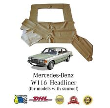 Mercedes-Benz W116 Headliner Ceiling Cover Cream with Sunroof (DHL Express)