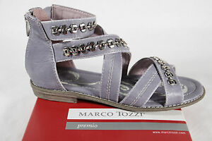Marco Tozzi Fille Sandalettes Bleu Clair, Plat Neuf