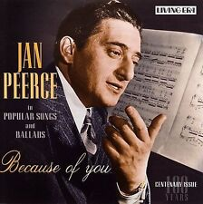 Because of You * by Jan Peerce (Tenor Vocals) (CD, May-2004, ASV/Living Era) o2e